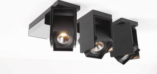 Modular Lighting Rektor LED Tre Dim GI MO 12828162 Schwarz strukturiert / Gebürstet aluminium